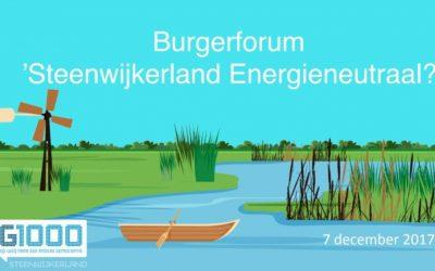Burgerforum G1000Steenwijkerland Energieneutraal van start