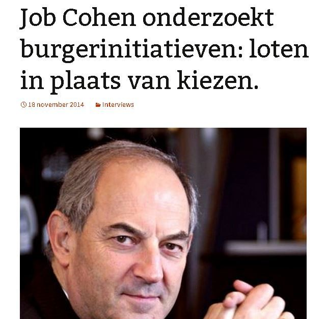 Job Cohen over loten