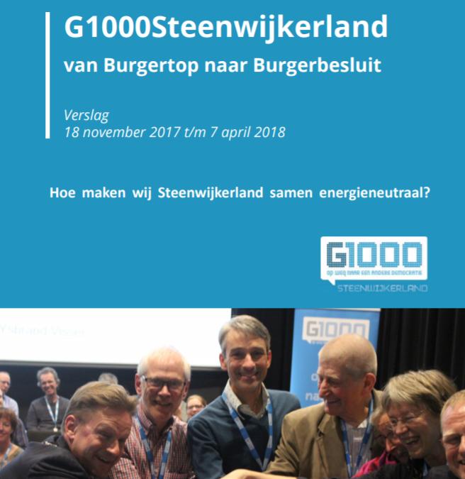 G1000Steenwijkerland, van Burgertop naar Burgerbesluit